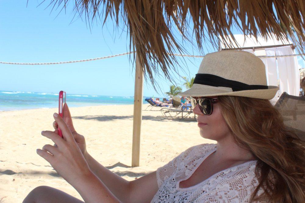 selfies on the beach