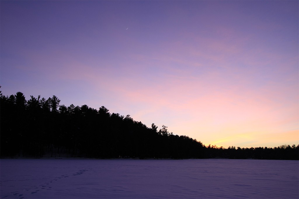 Wisconsin northwoods photography, purple sky