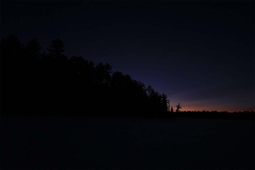 Wisconsin northwoods photography, sunset at night.