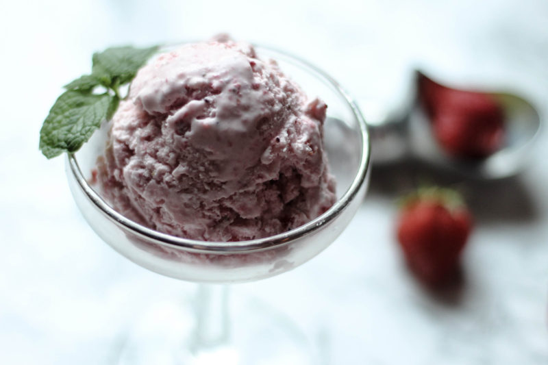 Strawberry Honey Ice Cream