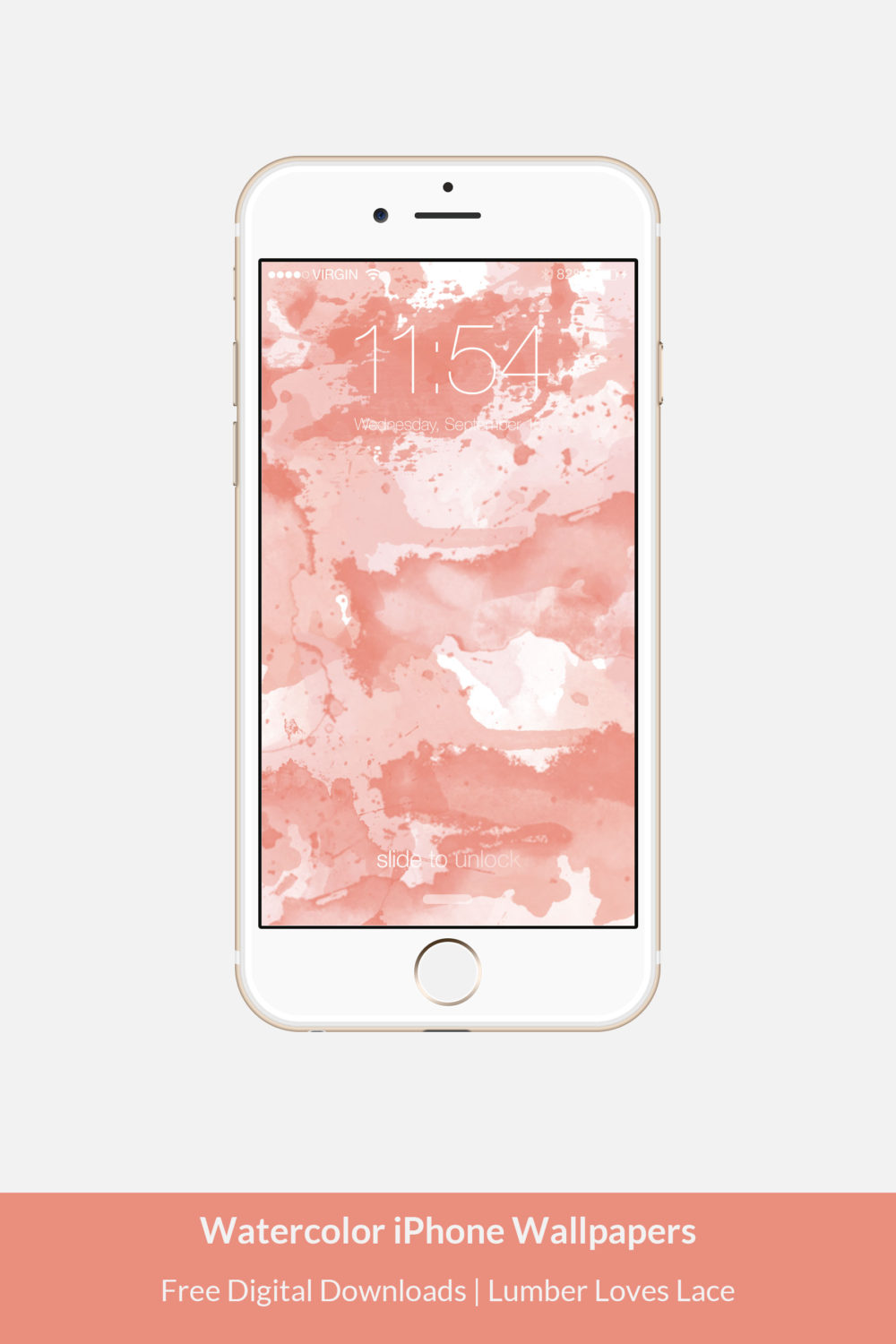 Watercolor iPhone Wallpapers Free Digital Download by Morgan Behrens | Lumber Loves Lace