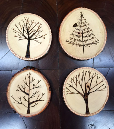 Woodburning the Most Lumbersexual Coasters