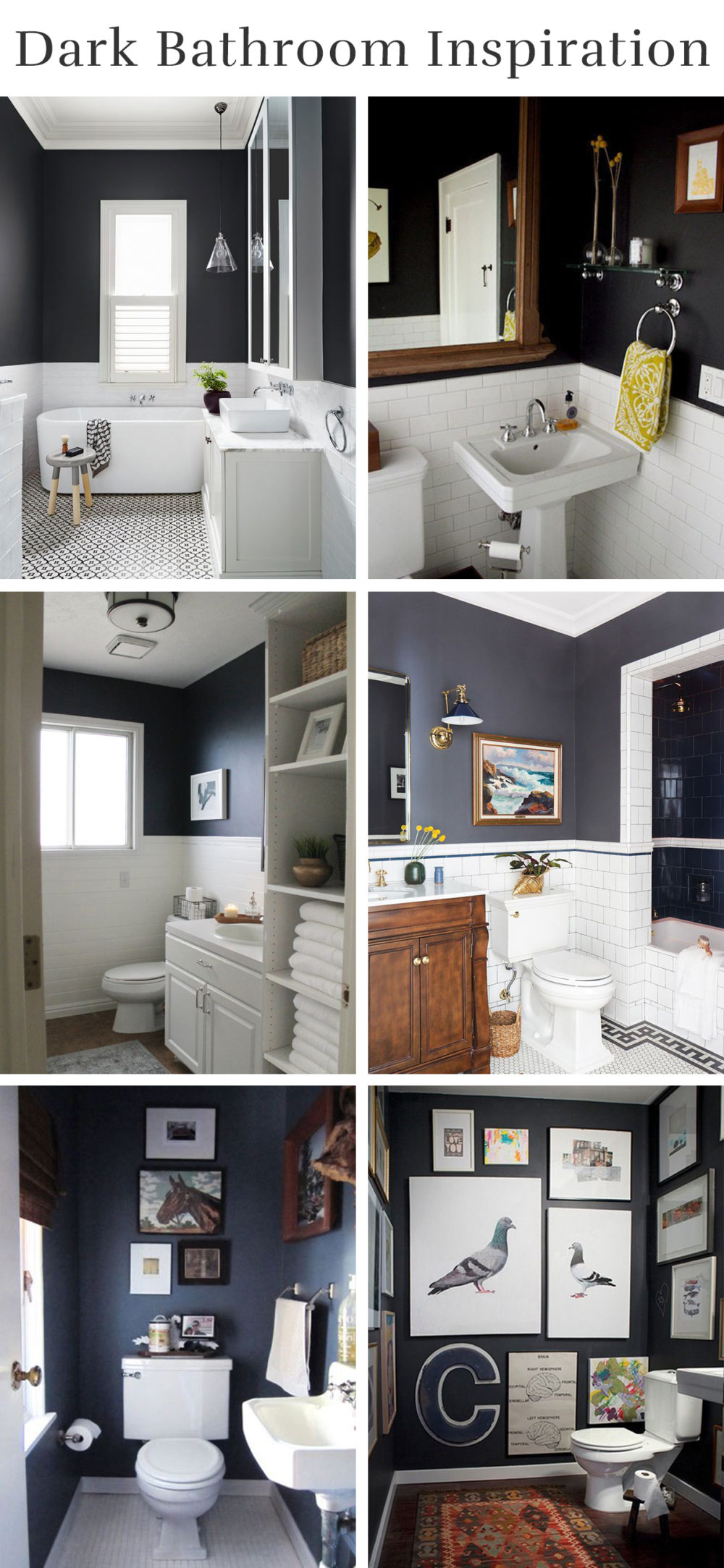 Dark Bathroom Inspiration | Melissa Lynch | melissalynch.com