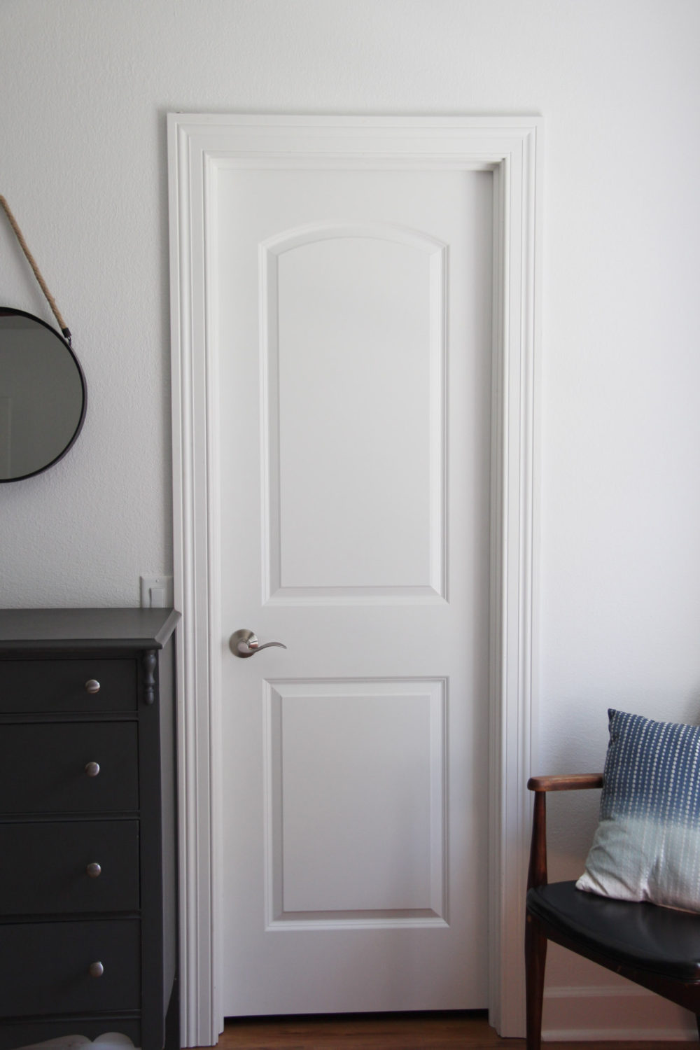 Master Closet Doorway | Lumber Loves Lace | lumberloveslace.com