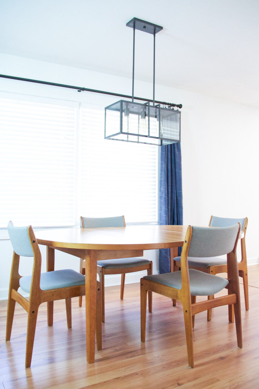 Industrial Modern Dining Room Lighting | Lumber Loves Lace | lumberloveslace.com