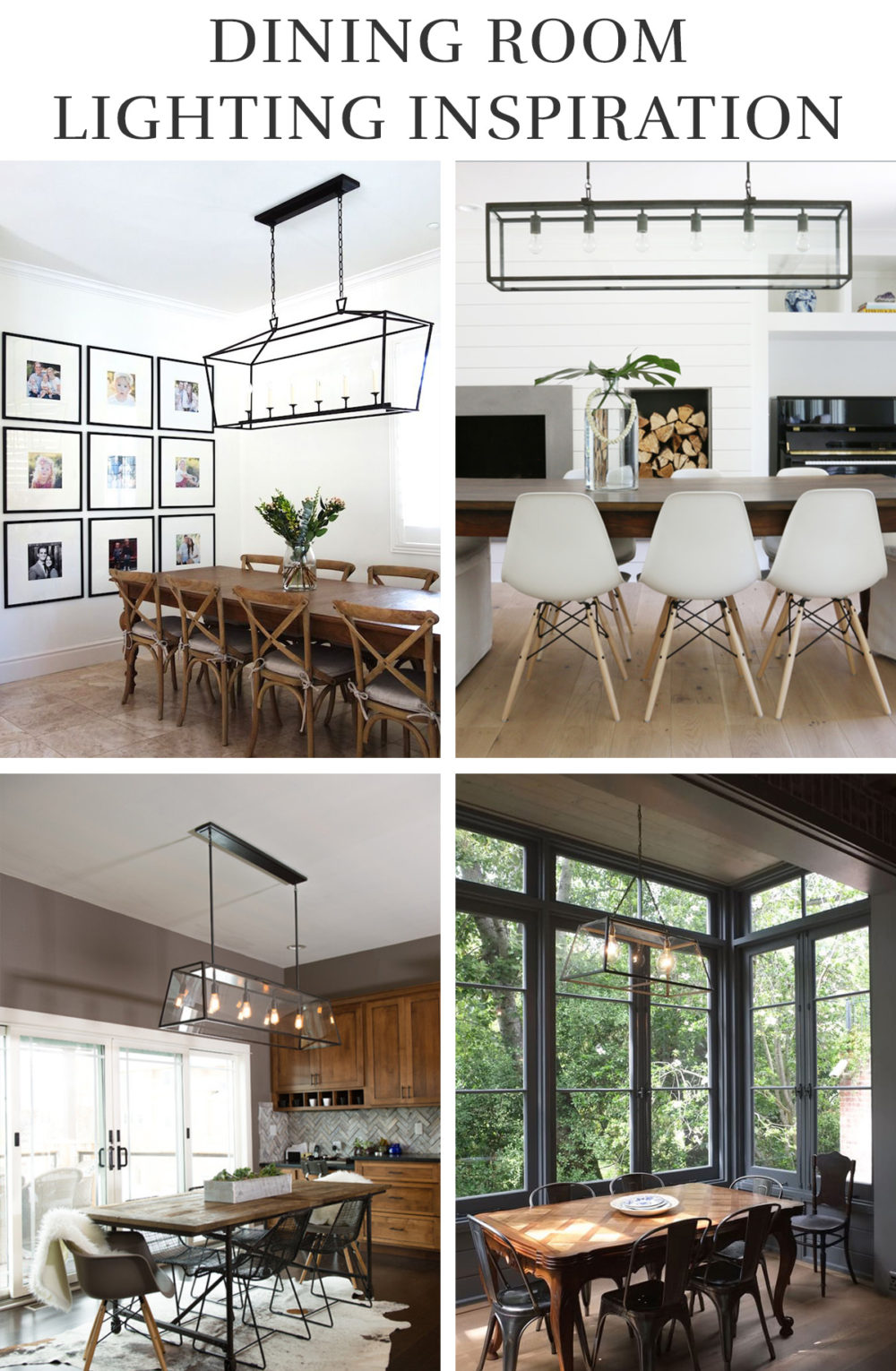 Industrial Modern Dining Room Lighting Inspiration | Melissa Lynch | melissalynch.com