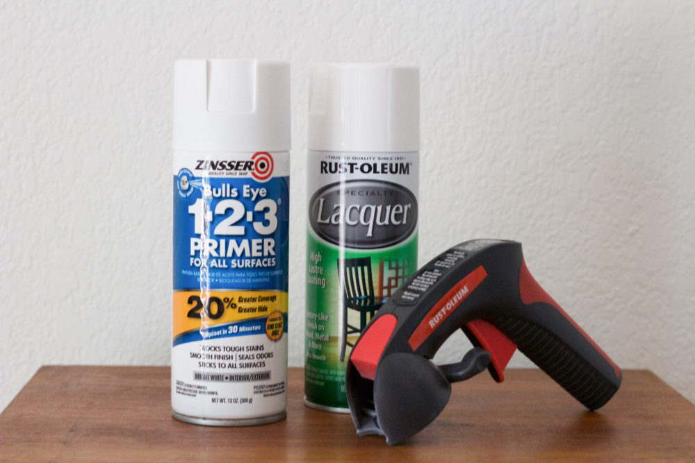 Painting Supplies for Converting a Vintage Dresser into a Changing Table | Lumber Loves Lace | lumberloveslace.com