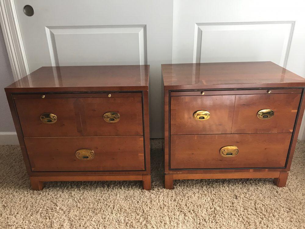 The nightstands