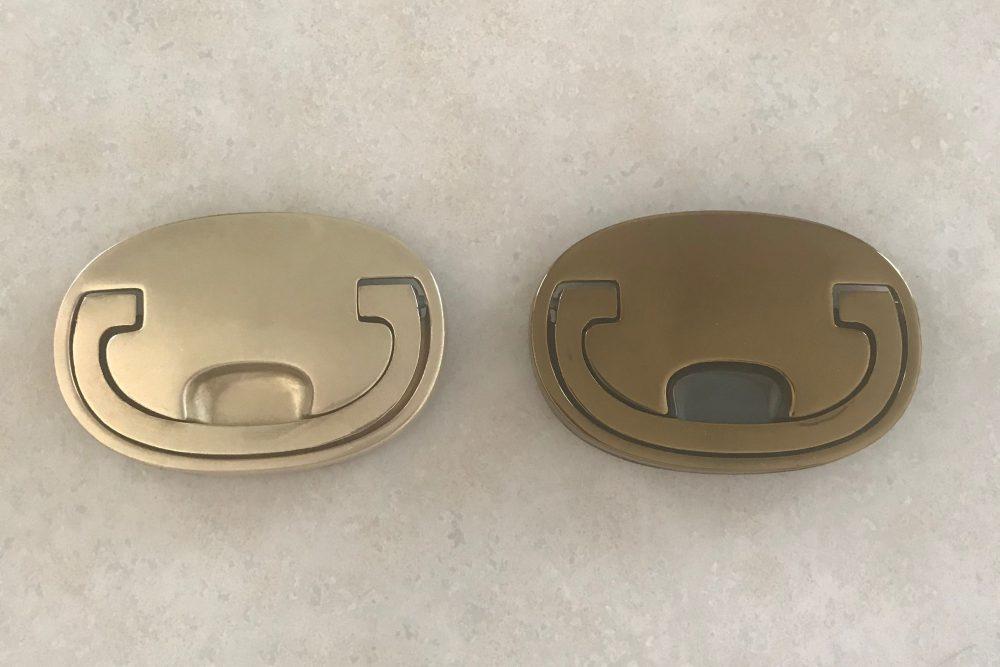 Refreshing brass hardware | Lumber Loves Lace | lumberloveslace.com