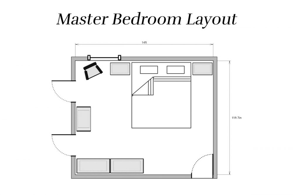Master Bedroom Layout | Lumber Loves Lace | lumberloveslace.com