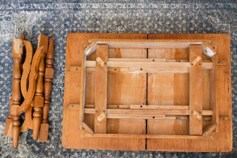 Disassembled Antique Table | Melissa Lynch | melissalynch.com