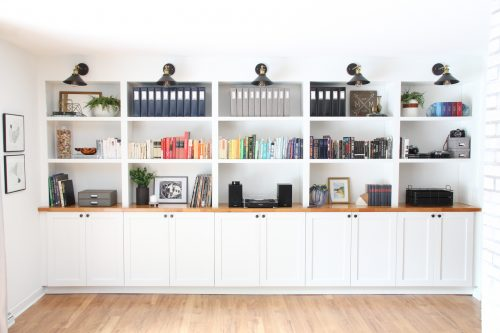 Our Built In Bookshelves