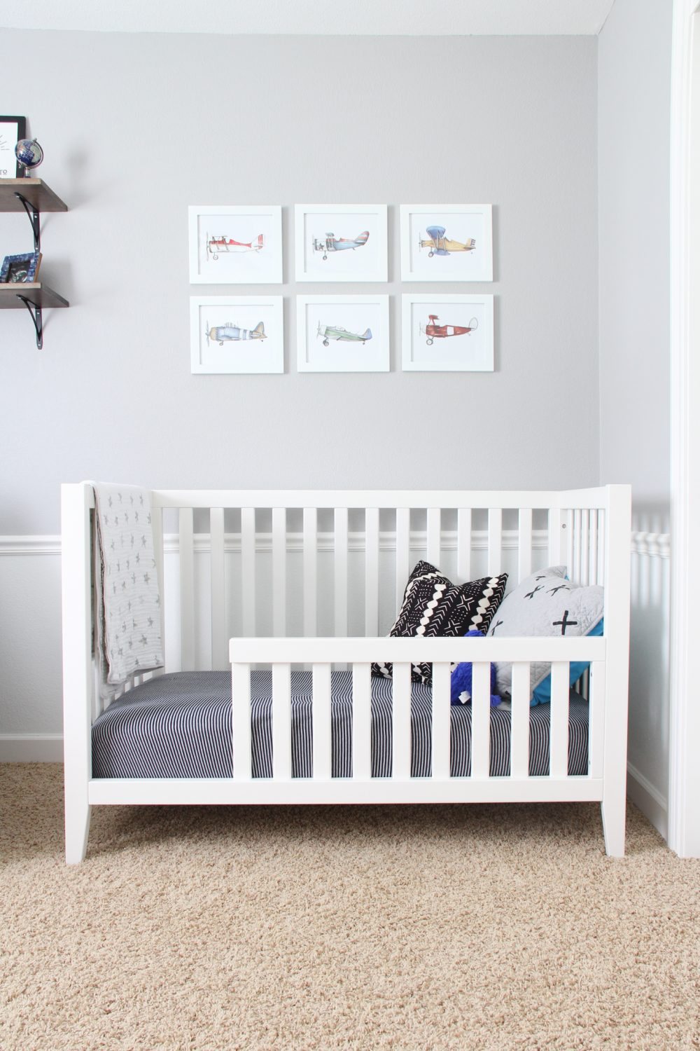 Toddler room for a little boy | Melissa Lynch | melissalynch.com