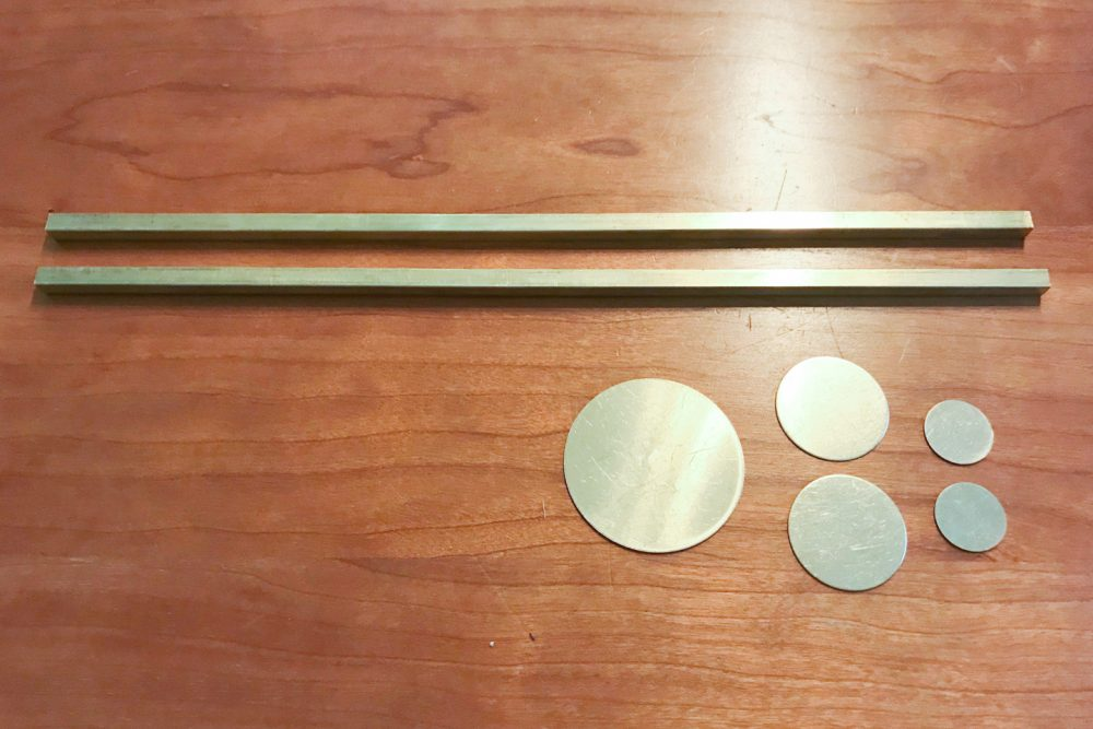 Brass mobile making supplies | Melissa Lynch | melissalynch.com