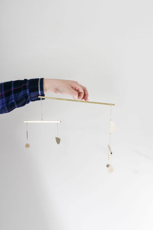 DIY brass mobile | Melissa Lynch | melissalynch.com