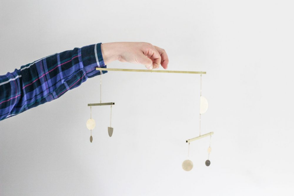 DIY brass mobile | Melissa Lynch | melissalynch.com
